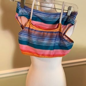 Art Class multicolor stripe bikini